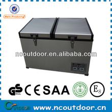 70L protable dual zone outdoor mini car refrigerator