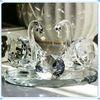 Facet Crystal Wedding Swan Ornament for Bride Favours