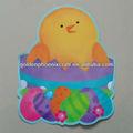 Feliz páscoa decoração festa/gaint recortes com película revestida/ovo de páscoa design forma recortes