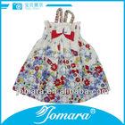 sleeveless flower dress latest design in kids wear