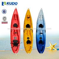 Fishing Kayak Wholesale KUDO Durable Roto Molded Double Plastic Canoe Kayak
