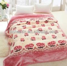 Super soft mink blankets in pvc bag
