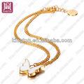 nuevo 2013 18k mariposa de oro collar de gargantilla