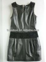Girls hot leather vest dress