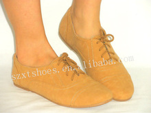 Nude lace up china flat shoes women rubber flat shoes brand name flat shoes