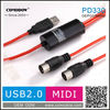 OEM 5-Pin Plated 3D Stereo usb midi guitar cable