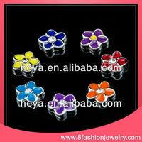 DIY slider charms in flower shape /8mm