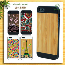 for iphone 5 wooden mobile phone shell with factory price