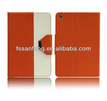 Eco-friendly book leather case for ipad mini,magnetic belt clip leather case for ipad mini