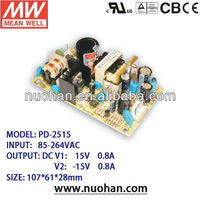 Meanwell 25W Dual Output 15v switching power supply 25w
