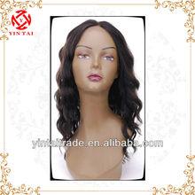 Fashion Brazilian human Remy Hair curly full lace Wigs black body wave