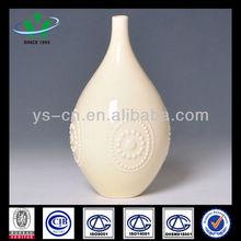 Carved Ivory Ceramic Decoration Flower Vase