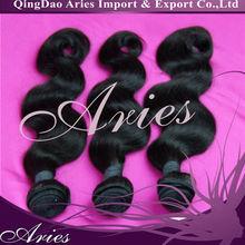 Best selling virgin indian hair weft/weave ocean wave hair