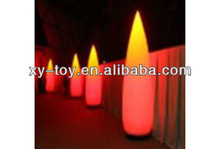 Hot sale decorative lighted columns,inflatable led light