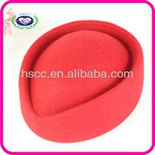 China Fashion Stewardess Red Women Wool Winter Hat 2013