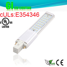 UL cUL CE RoHS approved 9w G23 LED PL lamp with 100-277V Isolated driver