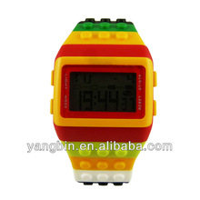 Unisex sport 2014 custom analog digital watch led watches