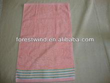 pink color face towel size satin border face towel size