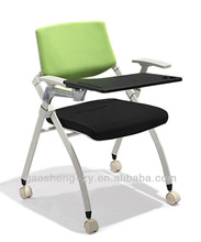 folding writing table chair /conference chair, training chair