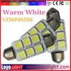 auto light 31mm 36mm 6smd 5050 SV8.5 festoon car led bulb