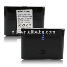 New Black 12000mAh 2 USB Power Bank External Battery Case For Universal Smart Phone
