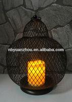 Black Rustic metal wire cucurbit candle holder lantern
