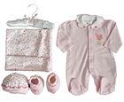 100%cotton baby wear 5pcs gift set