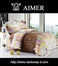 polycotton pigment printed bedding set/duvet cover/flat sheet/pollow case/trade assurance
