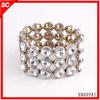 European style good quality lead free glass beaded elastic bangle jewelry