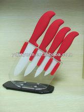 Hot style 4pcs zirconia ceramic knife set