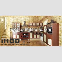 AK409 modern solid wood kitchen furniture displaying
