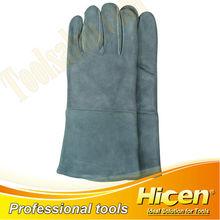 Long Cow Split Leather Welding Gloves