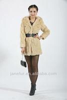 2014 new fashion more color rabbit fur coat,kissing placket fur coat