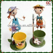 New Iron Handicraft Cartoon Figure Flowerpot Show Pieces For Home Decoration