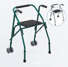 Polvere di alluminio deambulatore, walker, sedili per il bagno, deambulatore con sedile e solida ruote/pieghevole a piedi