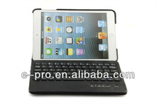 For Ipad Mini Wireless Bluetooth Keyboard with Leather Keyboard Case