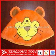 High quanlity! Factory price custom lovely lion plush baby hat
