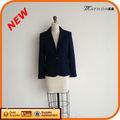 2014 nuevo diseño de moda las niñas chaqueta uniformesescolares blazer azul marino