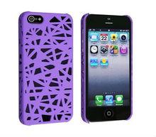 Snap-on Case for iPhone 5 , Dark Purple Bird Nest case
