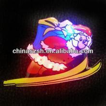 Christmas gift, fashion led plastic badge,Santa shape,high quality ,competitive price,Shenzhen manufcturer