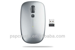 2.4g wireless silver color mouse in flat shape