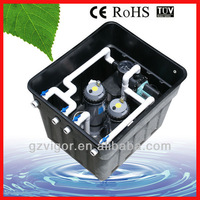 in-ground integrated swimming pool water circulation system for private pool