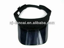 black plastic peak cap visor