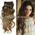 precio directo de fábrica barata rizado negro clip en extensiones del pelo