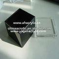 Colorida caja de acrílico se deslizó con tapa, cubo de acrílico caja