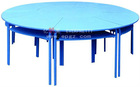 plastic round children tables and chairs, kids furniture made in China, low price with good quality