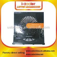 Factory Direct Sell~! Black Adjustable USB Laptop Cooler Pads