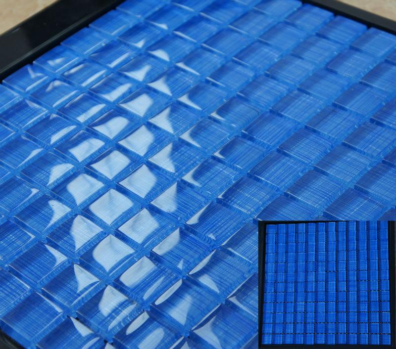 Blu mosaico di vetro piastrelle, vetro mosaico per piscina, parete e pavimento di piastrelle ...
