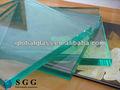 de alta calidad 25mm de espesor de vidrio flotado