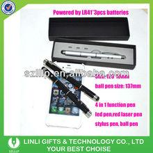led light laser pointer stylus pen 4 in 1 pen